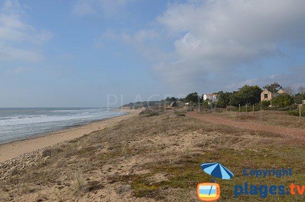 Photo de la plage de Belesbat à St Vincent sur Jard