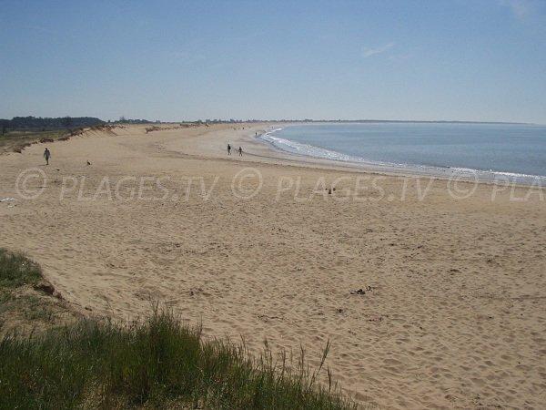Belle Henriette beach in La Tranche sur Mer in France