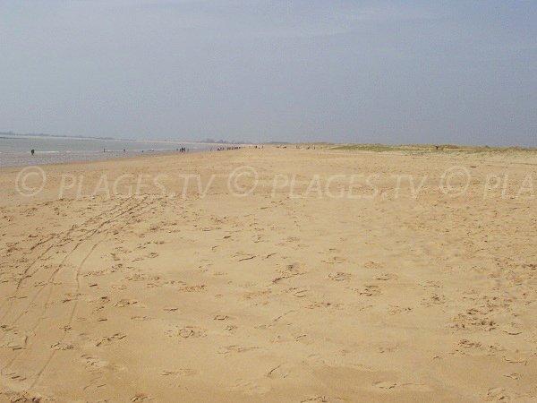 Plage de Bellugas avec vue sur les dunes de La Faute sur Mer