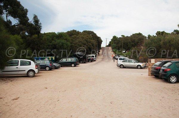 Parcheggio sulla penisola di Benedettu - Corsica