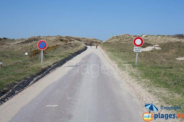 Access to Bergerie beach in Pirou