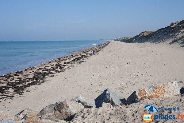 Photo de la plage de la Bergerie à Pirou
