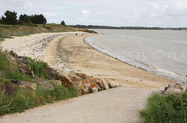 Photo de la plage dans la baie du Bile à Pénestin