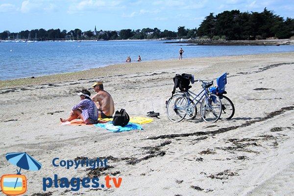 Belle plage sauvage sur l'ile d'Arz