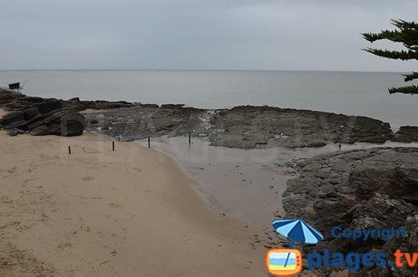 Cala di sabbia a Pornic- Birochere