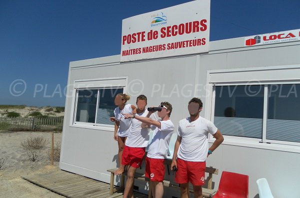 First aid station of North beach in Biscarrosse