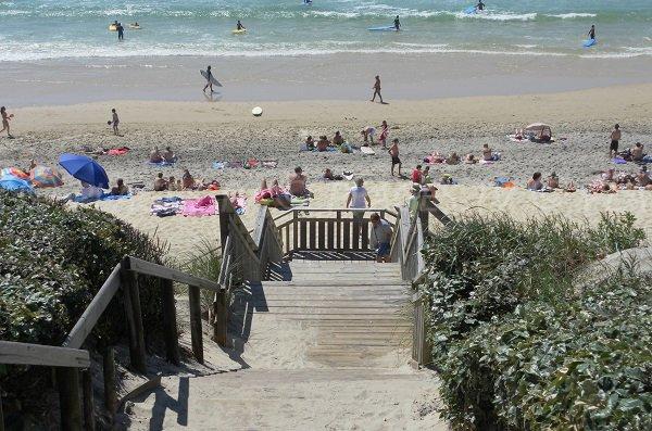 L'accesso alla spiaggia nord di Biscarrosse