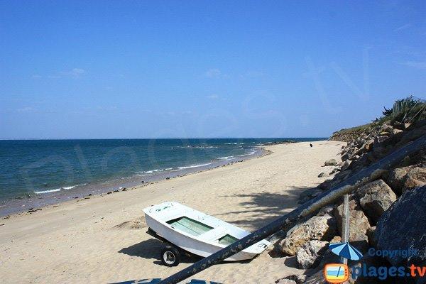 Blanche beach in Noirmoutier in France