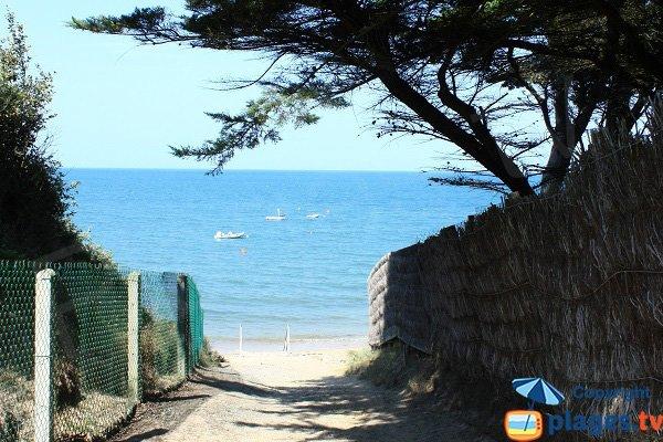 Access to the Blanche beach in Noirmoutier