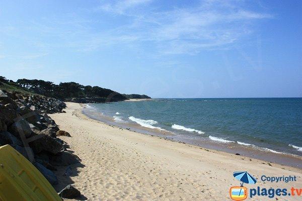Photo de la plage de la Blanche à Noirmoutier