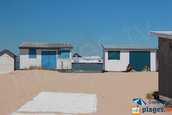 Baraques sur la plage de Blériot