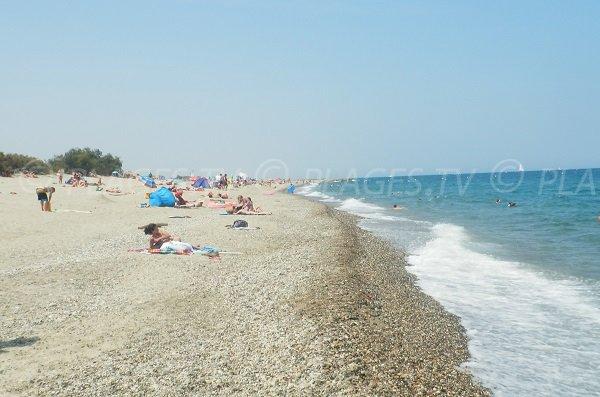 Photo de la plage d'Elne - Bocal de Tech