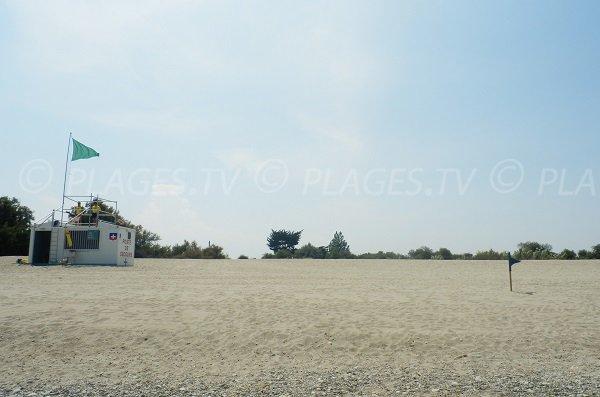 Poste de secours de la plage d'Elne
