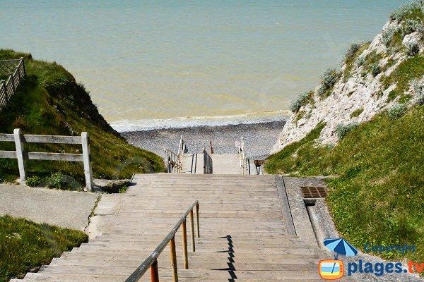 Accès à la plage du Bois de Cise - Ault