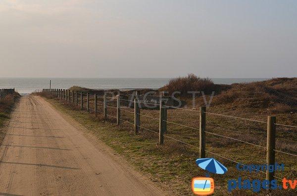 Photo de l'accès à la plage du Bois Soret à Notre Dame de Monts