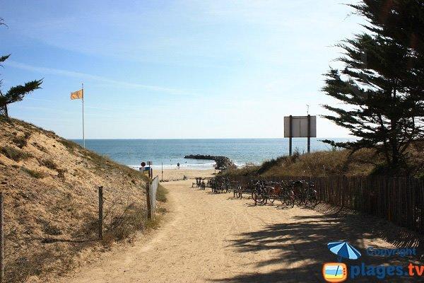 Accès à la plage de Boisvinet - Jard sur Mer