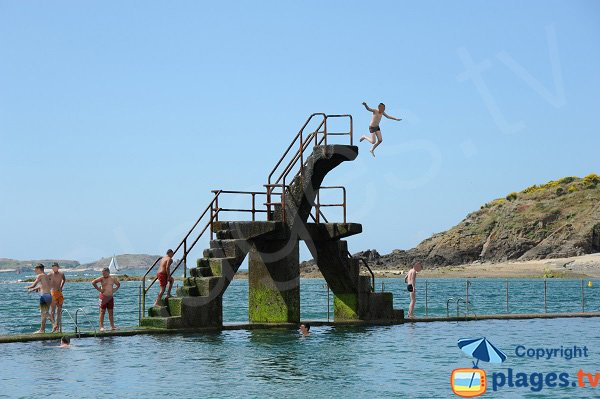 diving board on the Bon Secours beach - Saint-Malo