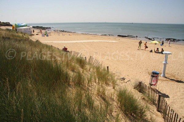 Plage de la Bonne Anse vue depuis le haut de la dune