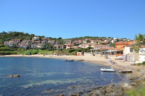 Bonne Terrasse beach in Ramatuelle - France