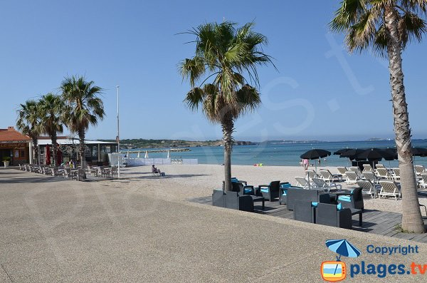 Spiagge private sulla spiaggia di Bonnegrace
