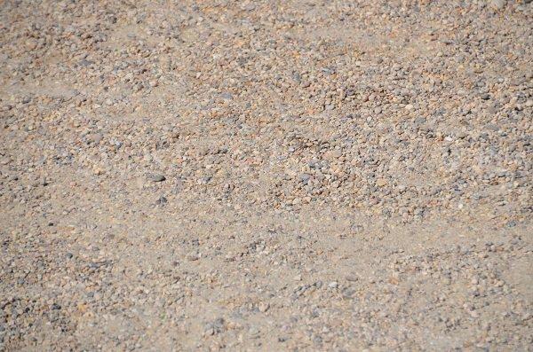 Graviers sur la plage de Bonneveine à Marseille