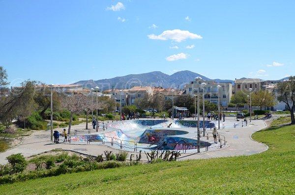 skatepark in Marseille - Parc Borély