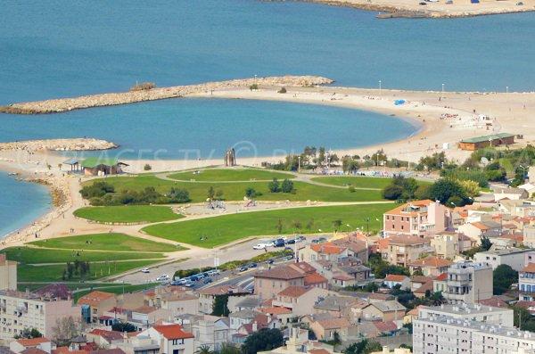 Plage Bonneveine à Marseille