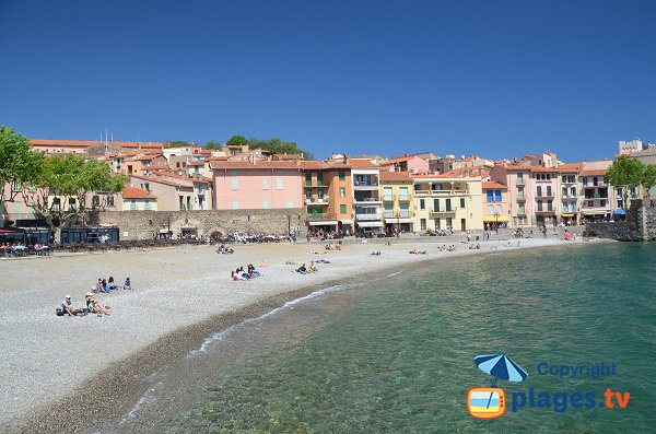 Restaurants sur la plage de Collioure
