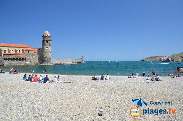 Cote Vermeille dalla spiaggia Boramar a Collioure