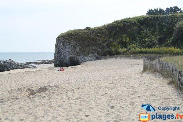 Plage de sable fin à Belle Ile en Mer - Bordardoué