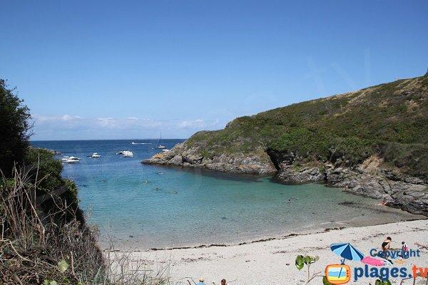 Belle plage à Belle-Ile-en-Mer - Bordéry