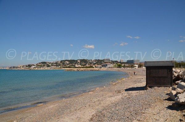 Partie centrale de la plage de Borély à Marseille