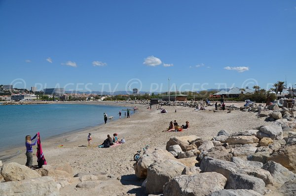 Borely beach in Marseille in France