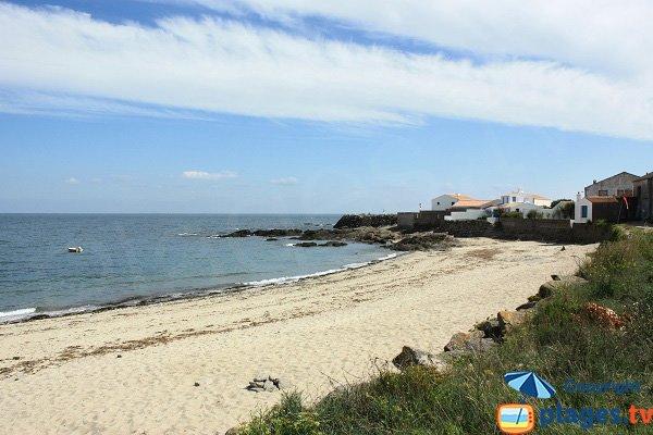 Photo de la plage de la Borgne sur l'ile d'Yeu