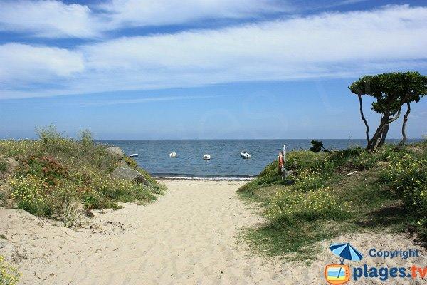 Accès à la plage de la Borgne sur l'ile d'Yeu