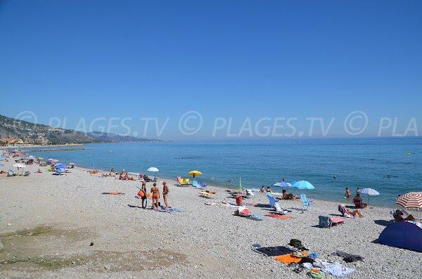 Borrigo beach in Menton