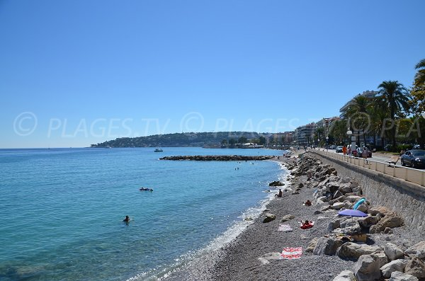 Menton beach nearly to Roquebrune Cap Martin