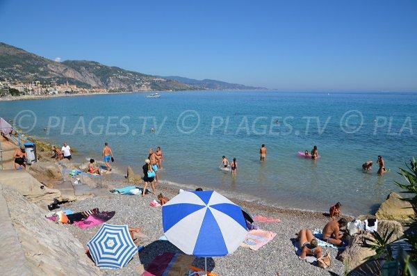 Beach in Roquebrune Cap Martin and  Menton