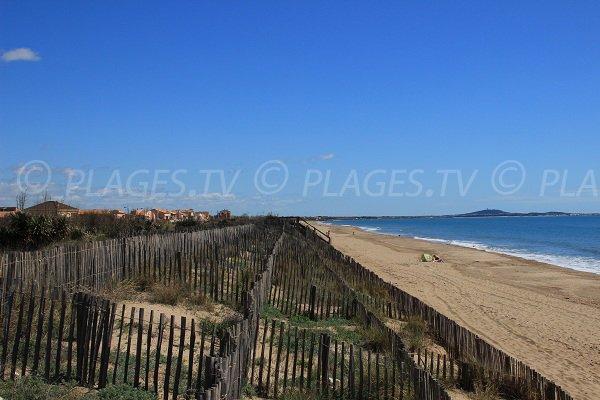 Bosquet beach in Portiragnes - France