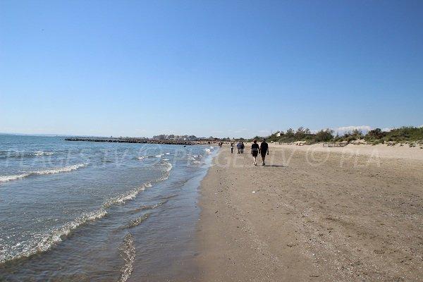 Spiaggia del Grau du Roi prima del centro di riabilitazione