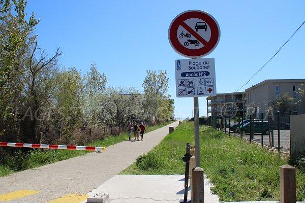 Accesso per persone con ridotta mobilità spiaggia di Grau du Roi - Boucanet
