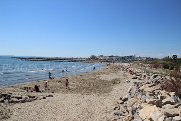 Boucanet beach in Grau du Roi in France