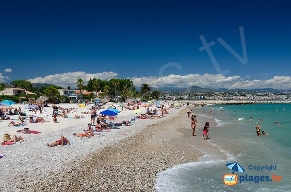 Sand beach in Villeneuve-Loubet - France