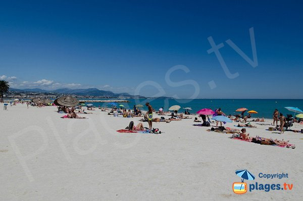 Sand of the beach of Villeneuve-Loubet