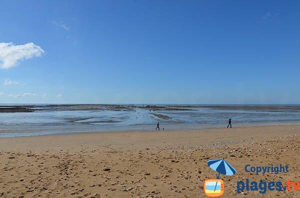Plage des Boucheleurs à marée basse à Chatelaillon