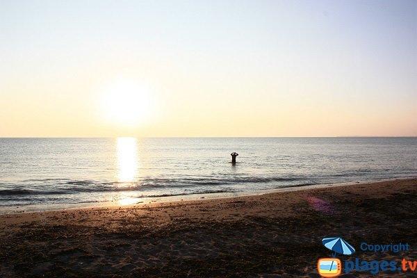 Coucher de soleil sur la plage des Boucholeurs - Noirmoutier