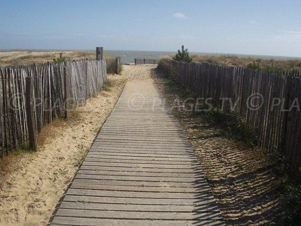 Chemin d'accès à la plage de Grière