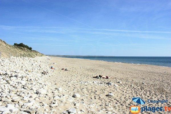 Bouil beach in Longeville sur Mer in France