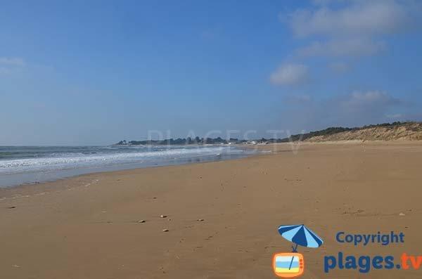 Foto della spiaggia al centro velico - Longeville sur Mer