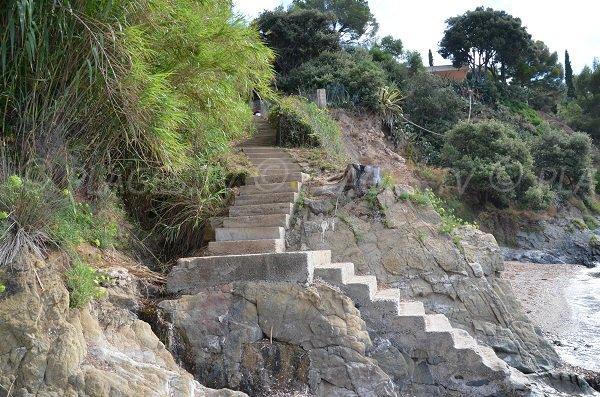 Escaliers de la plage de la Bouillabaisse